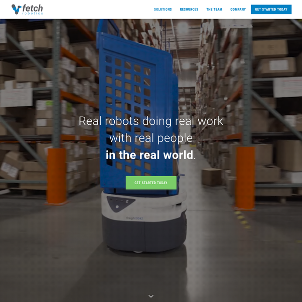 Fetch Robotics develops autonomous mobile robots that operate safely in commercial and industrial environments shared by people.