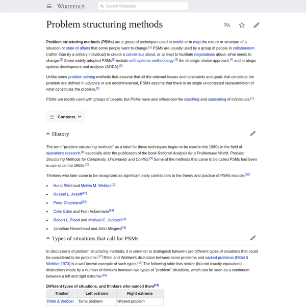 Problem structuring methods - Wikipedia