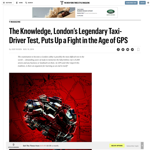 The Knowledge, London's Legendary Taxi-Driver Test, Puts Up a Fight in the Age of GPS