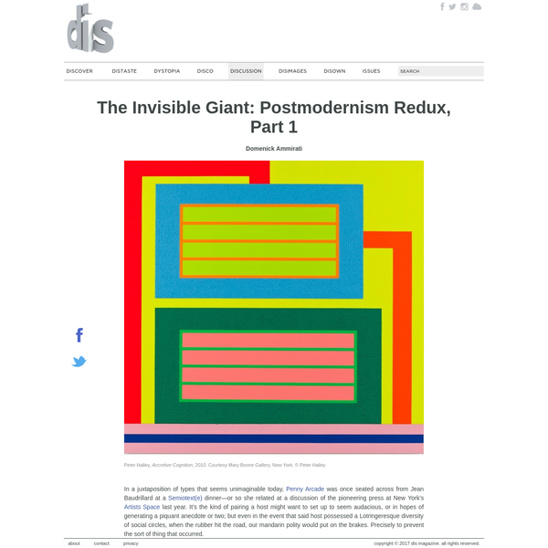 The Invisible Giant: Postmodernism Redux, Part 1| Domenick Ammirati