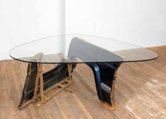 """Jessi Reaves_""""Mind at the Rodeo (XJ Fender Noguchi Table Knockoff #2)"""" 2016"""