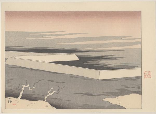 SAKAMOTO Hanjirō (坂本 繁二郎 Japanese, 1882-1969)  from the series Five Scenes of Tsukushi  1918