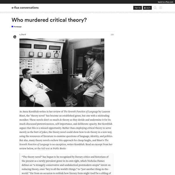 Who murdered critical theory?