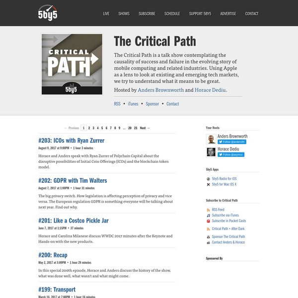 5by5 | The Critical Path