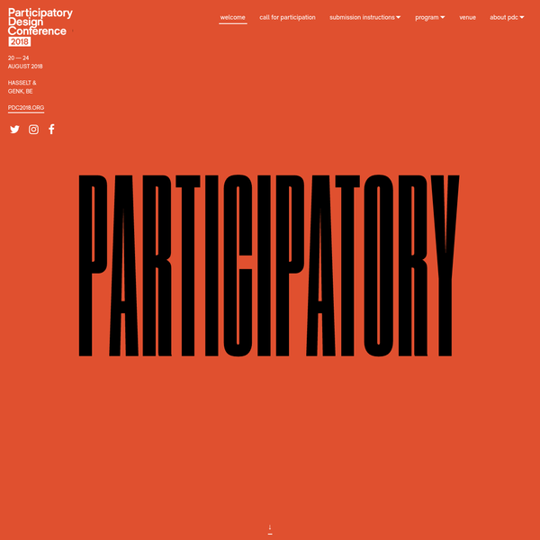 The Participatory Design Conference (PDC) is a conference with a long history in bringing together scholars who present research on the direct involvement of people in design, development, implementation, and appropriation activities of information and communication technologies, spaces, artefacts, and services.
