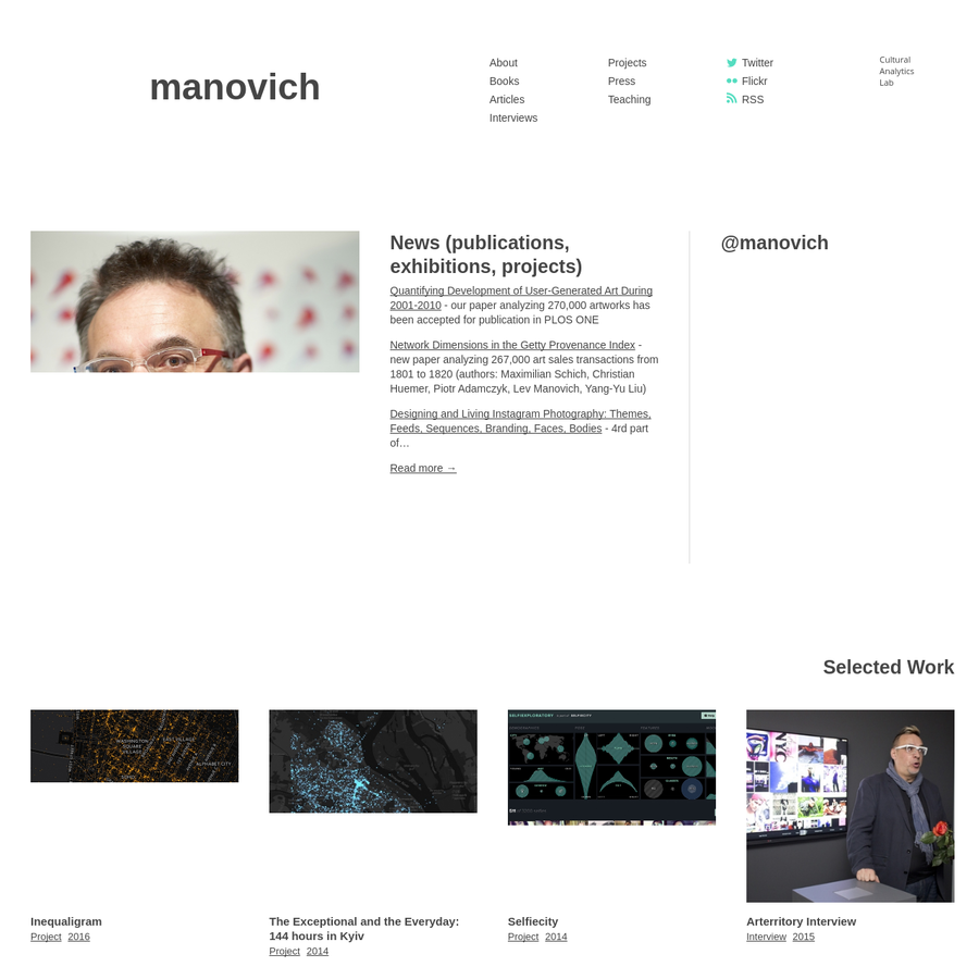 Lev Manovich: photos, bio, complete CV.