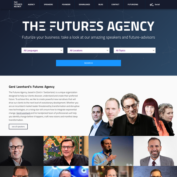 The Futures Agency | A global network of futurists and keynote speakers