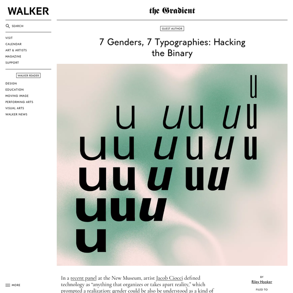 7 Genders, 7 Typographies: Hacking the Binary