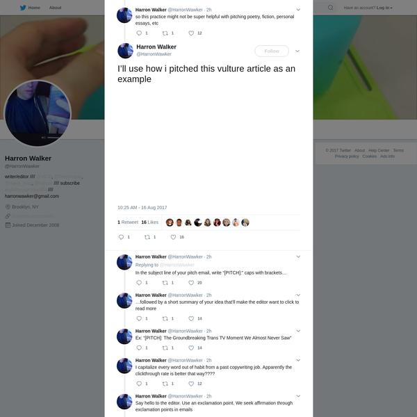 Harron Walker on Twitter
