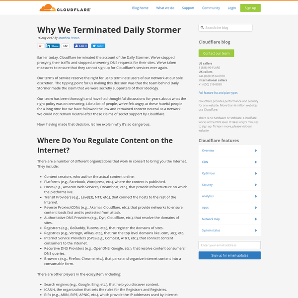 Why We Terminated Daily Stormer