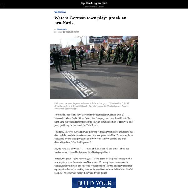 Watch: German town plays prank on neo-Nazis