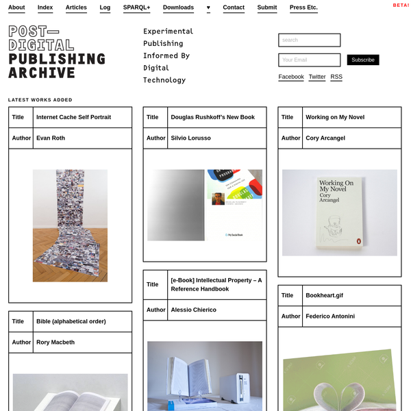 Post-Digital Publishing Archive