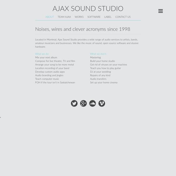 AJAX SOUND STUDIO