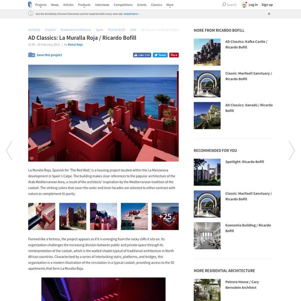 AD Classics: La Muralla Roja / Ricardo Bofill