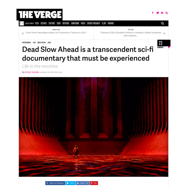 Dead Slow Ahead is a transcendent sci-fi documentary that must be experienced