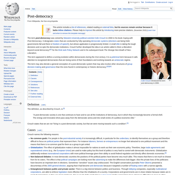 Post-democracy - Wikipedia