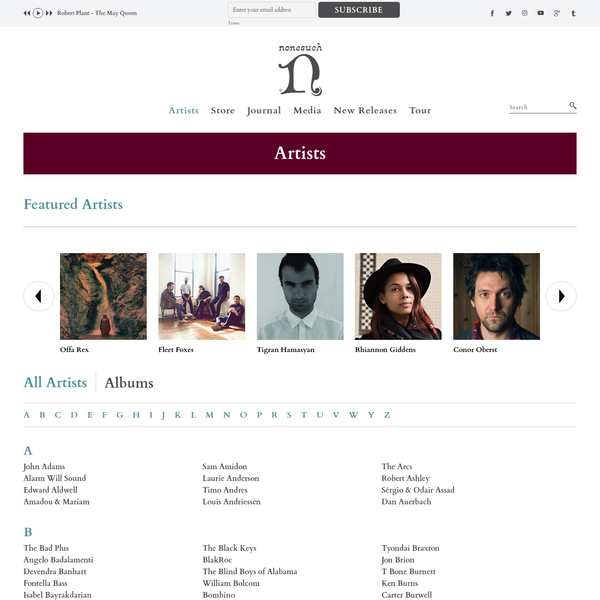 The official site of Nonesuch Records