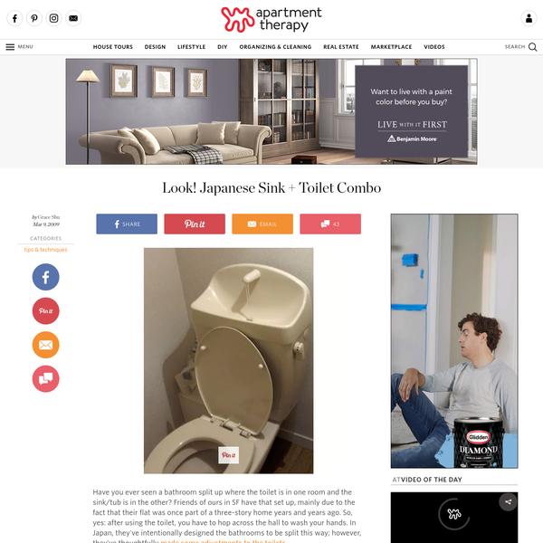Look! Japanese Sink + Toilet Combo