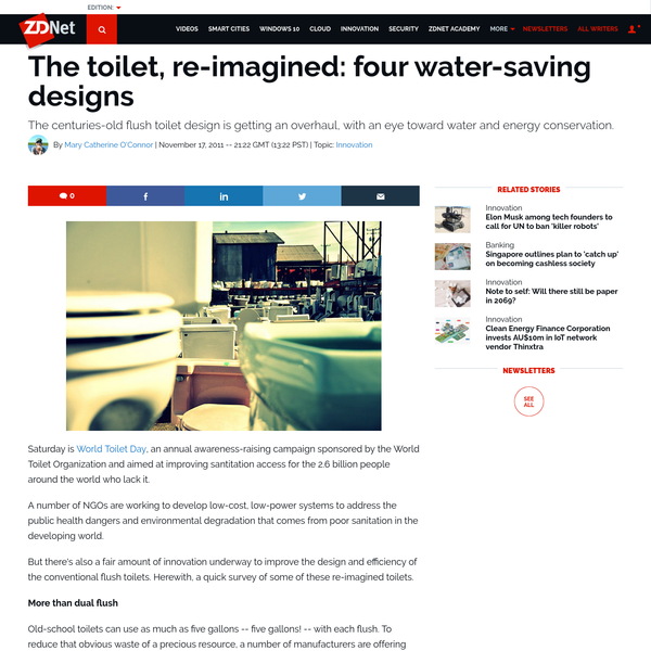 The toilet, re-imagined: four water-saving designs | ZDNet