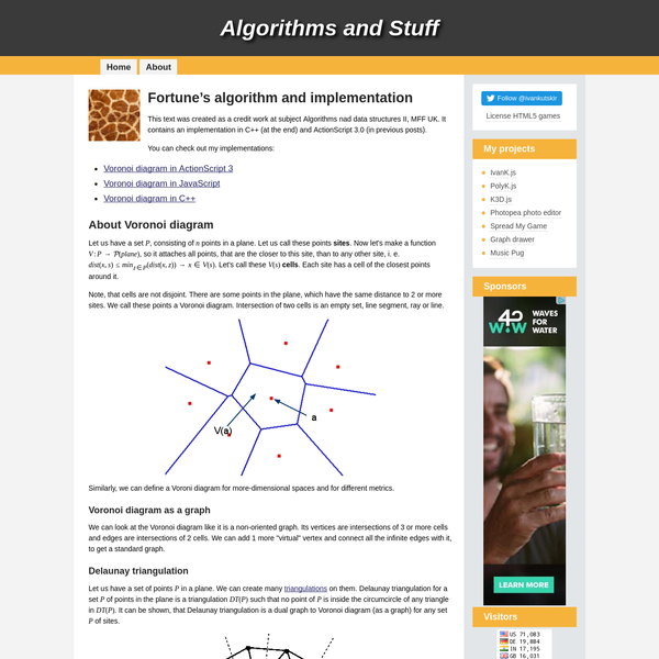 Fortune's algorithm and implementation