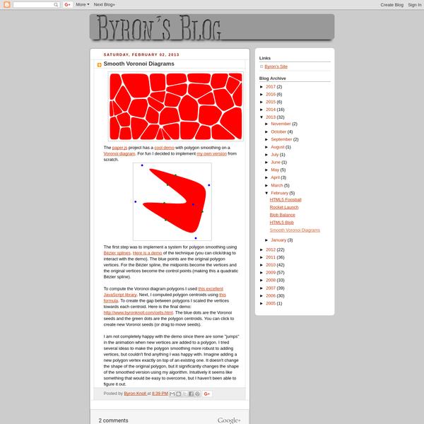 Smooth Voronoi Diagrams