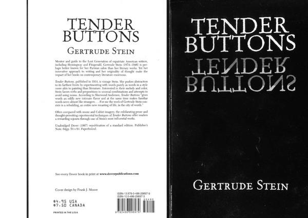 Gertrude Stein - Tender Buttons (1997)