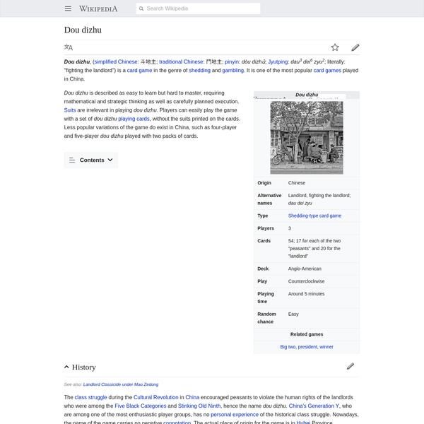 Dou dizhu - Wikipedia