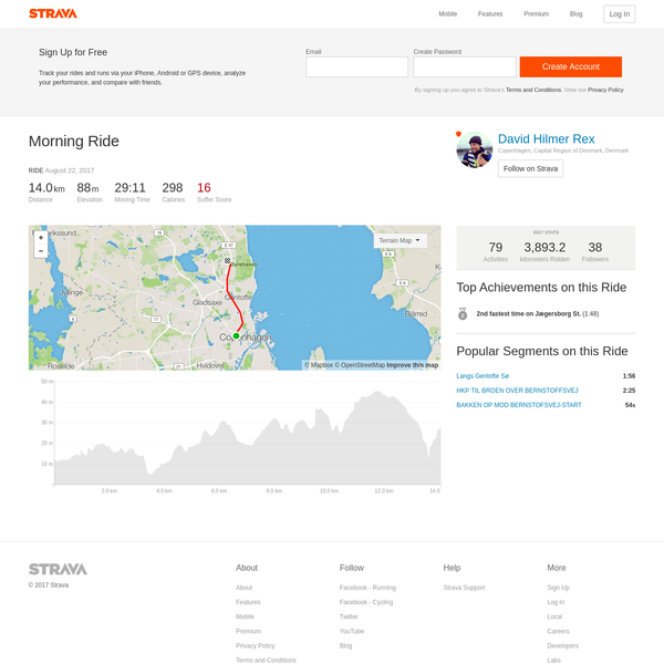 Track your rides and runs via your iPhone, Android or GPS device, analyze your performance, and compare with friends.