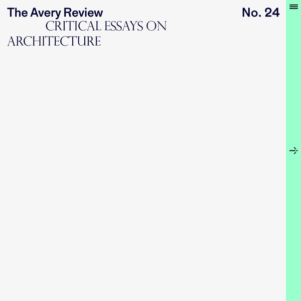 The Avery Review   home