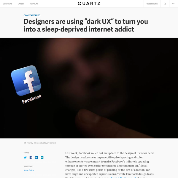 "Designers are using ""dark UX"" to turn you into a sleep-deprived internet addict"