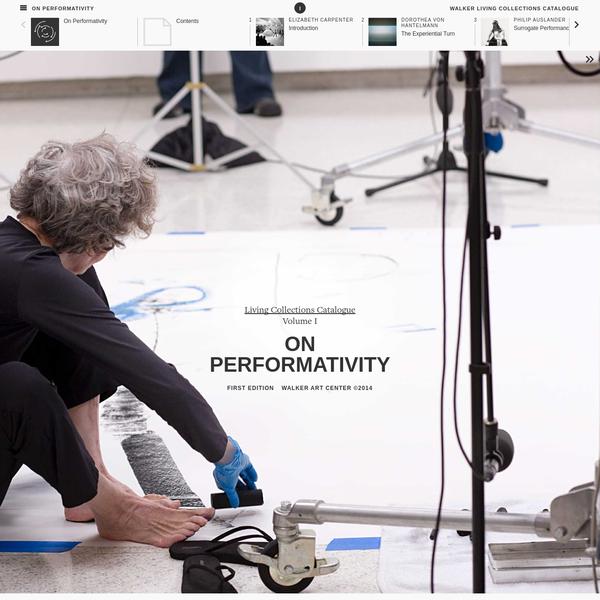 On Performativity - Walker Art Center