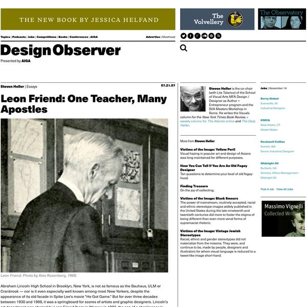 Leon Friend: One Teacher, Many Apostles