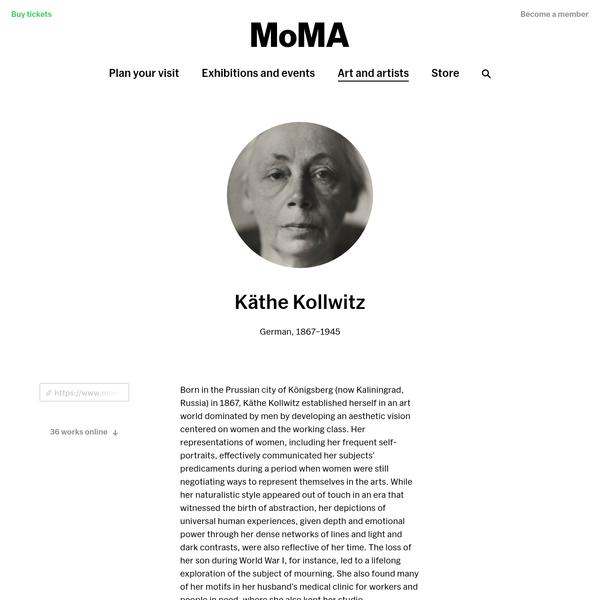 Käthe Kollwitz   MoMA