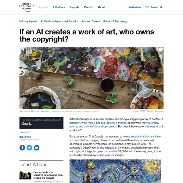 If an AI creates a work of art, who owns the copyright?