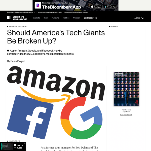 Should America's Tech Giants Be Broken Up?