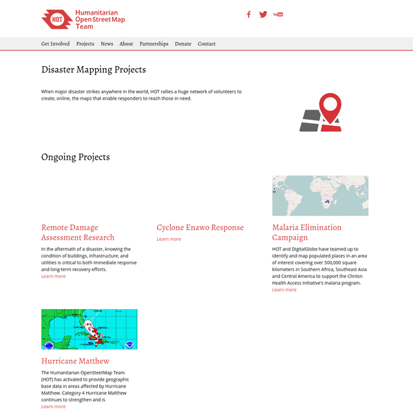 Disaster Mapping Projects | Humanitarian OpenStreetMap Team