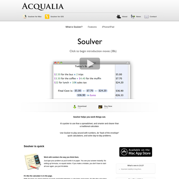 Soulver | Acqualia