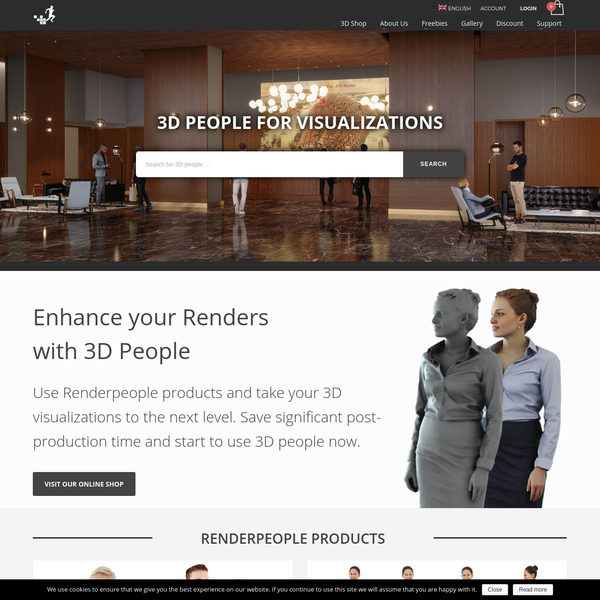3D People for Renderings | RENDERPEOPLE Online Shop