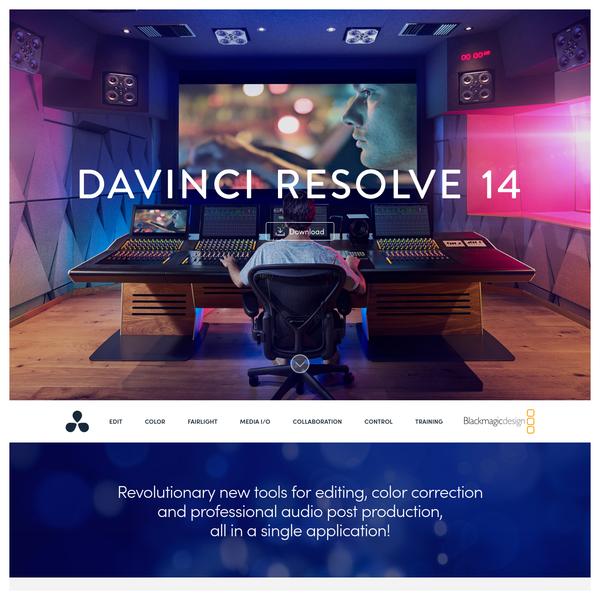 Blackmagic Design: DaVinci Resolve 14