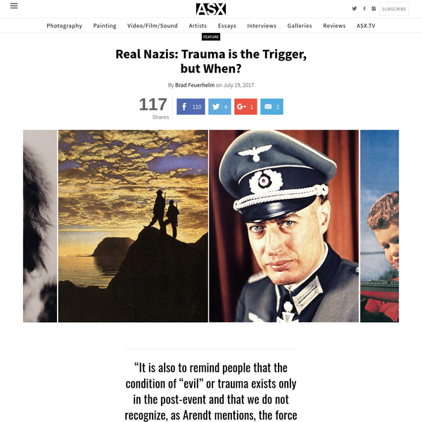 Real Nazis: Trauma is the Trigger, but When? | #ASX