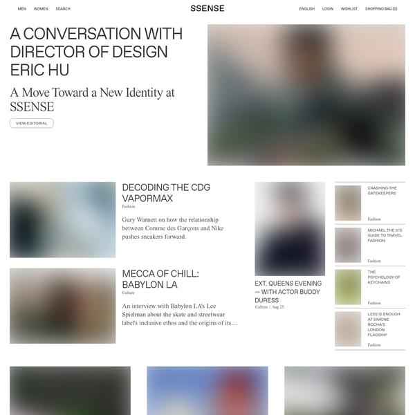 Luxury fashion & independent designers | SSENSE