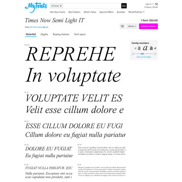 "Times Now Semi Light IT - Desktop font "" MyFonts"