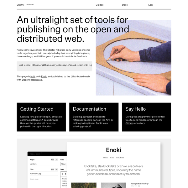 An ultralight set of tools for publishing on the open and distributed web.