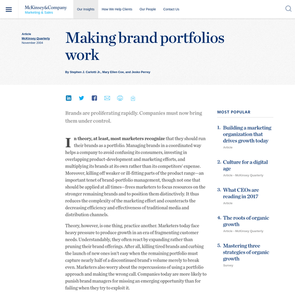 Making brand portfolios work