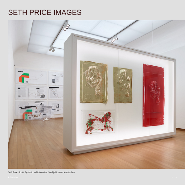 Seth Price: Social Synthetic, exhibition view. Stedlijk Museum, Amsterdam.
