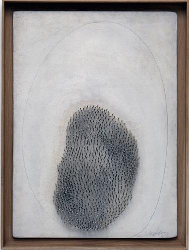 Gunther Ueker, Hommage A Fontana, 1962