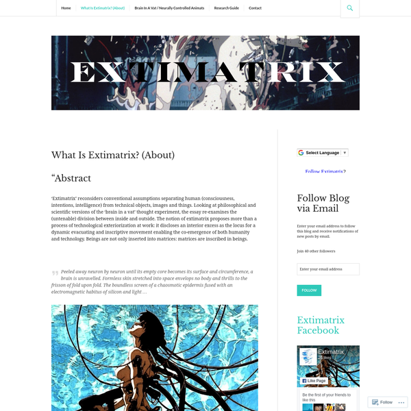 What Is Extimatrix? (About)