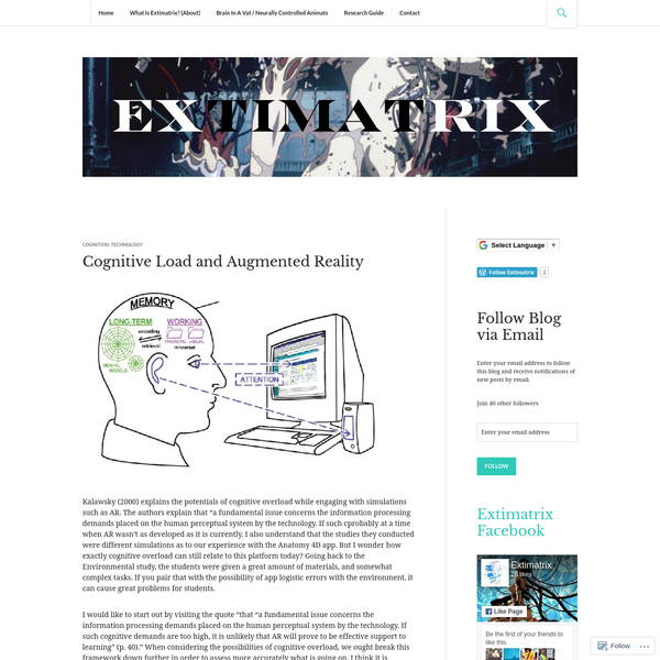 Cognitive Load and Augmented Reality
