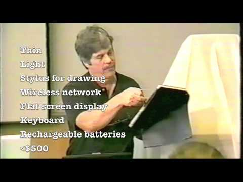 Alan Kay's Dynabook -- Rare NHK video