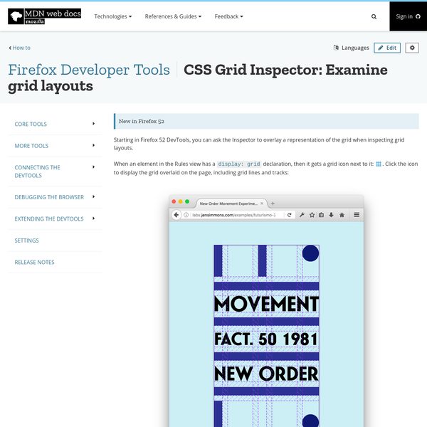 Starting in Firefox 52 DevTools, you can ask the Inspector to overlay a representation of the grid when inspecting grid layouts.